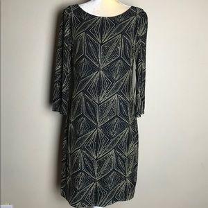 Jessica Howard Evenings black gold dress size 10